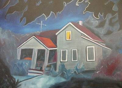 Ma. Mass Painting - Haunted House by Suzanne  Marie Leclair