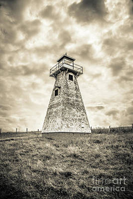 Cousins Photograph - Haunted Old Lighthouse Infrared by Edward Fielding