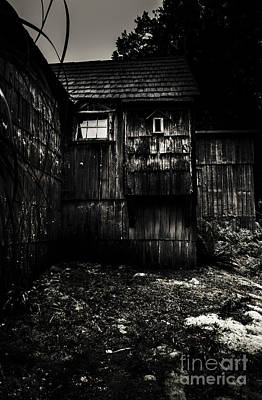 Haunted Outback Cabin In Dark Night Woods Print by Jorgo Photography - Wall Art Gallery