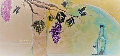 Haunting Wine Distraction Print by Lisa Kaiser