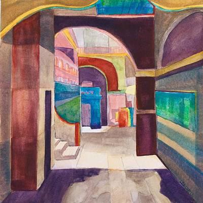 Havana Courtyard Print by Lynne Bolwell