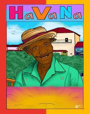 Grapefruit Drawing - Havana by Selena Francois