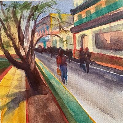 Havana Street Scene101 Print by Lynne Bolwell