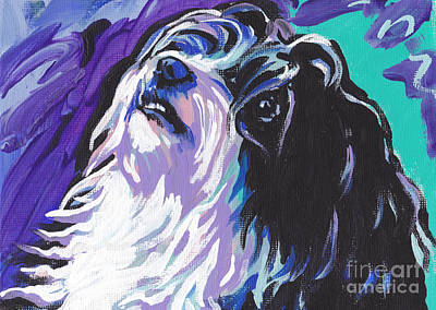 Puppy Painting - Havanese by Lea S