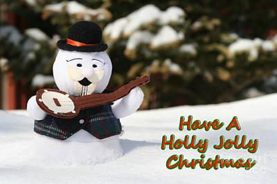 Have A Holly Jolly Christmas Print by Deborah A Andreas