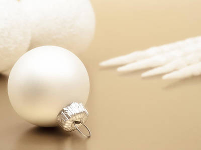 Interior Still Life Photograph - Have A White Christmas by Wim Lanclus