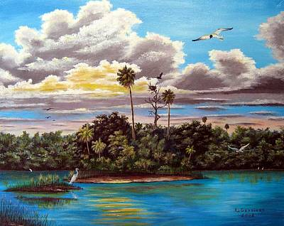 Osprey Mixed Media - Haven In The Glades by Riley Geddings