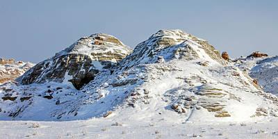 Winter Photograph - Havre Badlands No. 2 by Todd Klassy