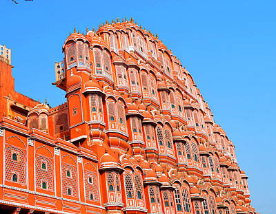 Cremation Ghat Photograph - Hawa Mahal by John And Laurel Rodgers