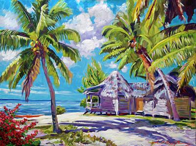 Hawaii Beach Shack Print by David Lloyd Glover