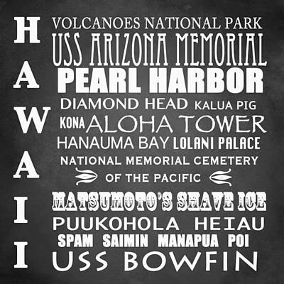 Bay Of Pigs Digital Art - Hawaii Famous Landmarks by Patricia Lintner