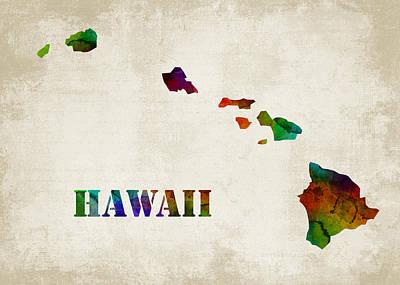 Hawaii Print by Mihaela Pater