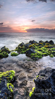 Tidal Photograph - Hawaii Tide Pool Sunset by Dustin K Ryan