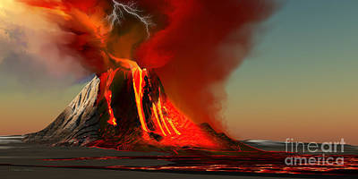 Hawaii Volcano Print by Corey Ford