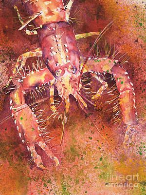 Sealife Art Painting - Hawaiian Lobster by Tanya L Haynes - Printscapes
