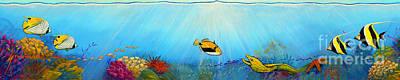 Scuba Painting - Hawaiian Sea Life by Jerome Stumphauzer