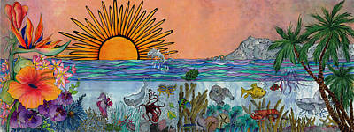 Ocean Sunrise Original by Meldra Driscoll