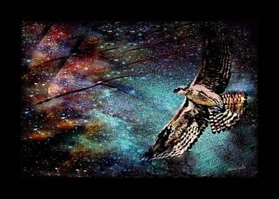 Hawk At Night Print by YoMamaBird Rhonda