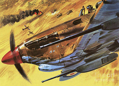 Jet Painting - Hawker Hurricane by Wilf Hardy