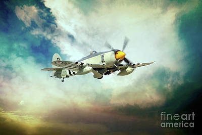 Fury Digital Art - Hawker Sea Fury by J Biggadike