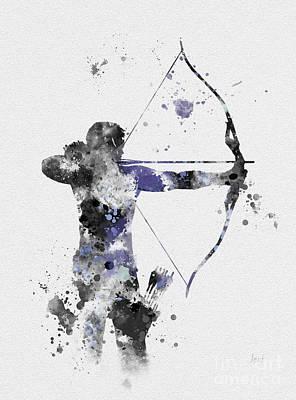 Hawkeye Mixed Media - Hawkeye by Rebecca Jenkins