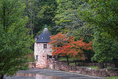 Hawks Nest State Park Roundhouse Print by Mary Almond
