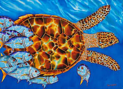 Marine Life Painting - Hawksbill - Jacks  by Daniel Jean-Baptiste