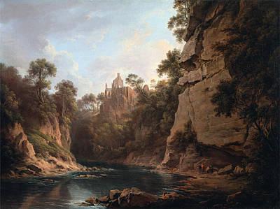 Alexander Nasmyth Painting - Hawthornden Castle Near Edinburgh by Alexander Nasmyth