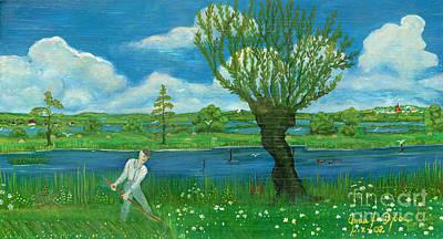 Folkartanna Painting - Hay-making by Anna Folkartanna Maciejewska-Dyba