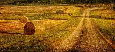 Hay Rolls - Country Road Print by Nikolyn McDonald