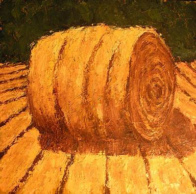 Haybale Painting - Haybale by Jaylynn Johnson