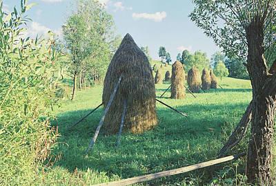 Haystacks Print by Anton Popov