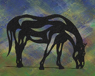 Hazel - Abstract Horse Print by Manuel Sueess