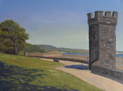Beach Painting - Hazelbank Turrets by Sinclair Goudie