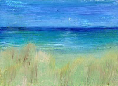 Hazy Beach Original by Regina Valluzzi