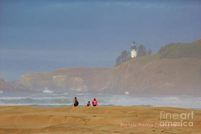Agate Beach Oregon Photograph - Hazy Day At The Beach by Michele Martin