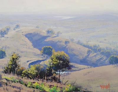 Morning Light Painting - Hazy Morning Lake Windamere by Graham Gercken