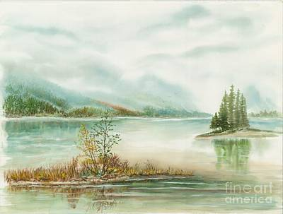 Hazy On The Lake Print by Samuel Showman
