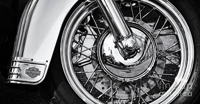 Hd Heritage Softail Print by Tim Gainey
