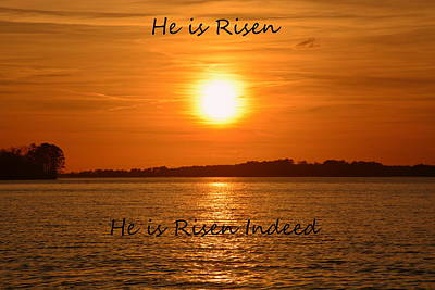 He Is Risen He Is Risen Indeed Print by Lisa Wooten