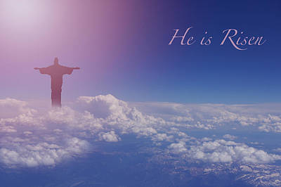Resurrection Photograph - He Is Risen by Art Spectrum