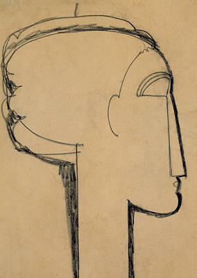 Head In Profile Print by Amedeo Modigliani
