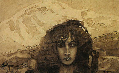 Woman Head Painting - Head Of A Demon by Mikhail Aleksandrovich Vrubel