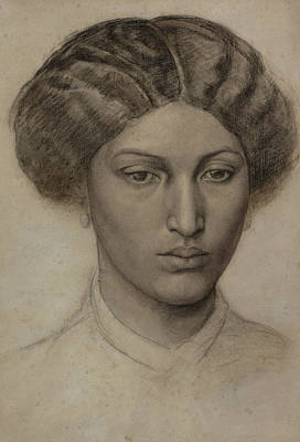 Head Of A Young Woman Print by Dante Gabriel Rossetti