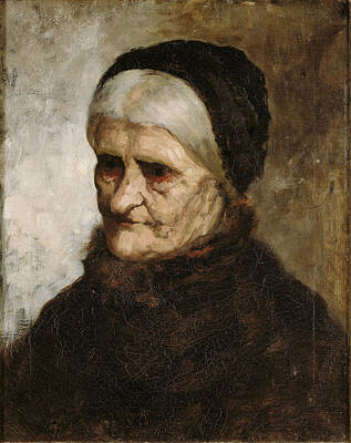 Painting - Head Of An Old Woman by Robert Koehler