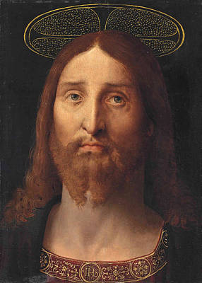 Salvator Mundi Painting - Head Of Christ. Salvator Mundi by Follower of Jacopo de' Barbari