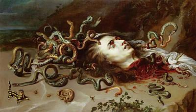 Gorgon Painting - Head Of Medusa by Peter Paul Rubens