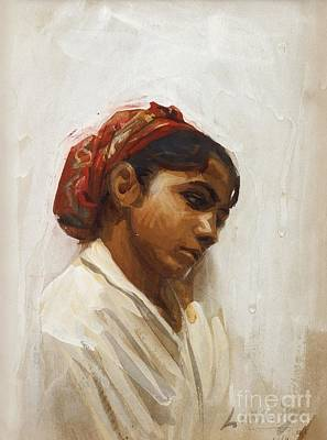 Zorn Painting - Head Of Spanish Girl by Celestial Images