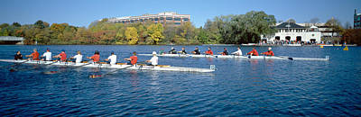 Head Of The Charles Rowing Festival Print by Panoramic Images