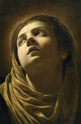 Painting - Head Of The Virgin by Simon Vouet